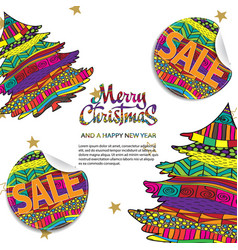 merry christmas sale background with creative vector image