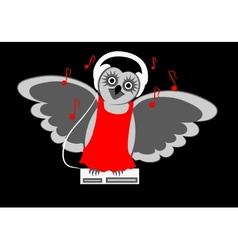 Musical owl vector