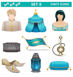 Party Icons Set 8 vector