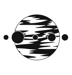 Planet and moons icon simple style vector