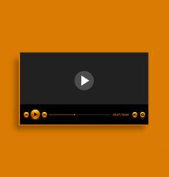 premium golden style video player template design vector image