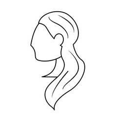 Profile woman bride wedding outline vector