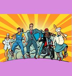 programmer baker biker nurse worker vector image