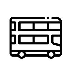 public transport double-decker bus icon vector image