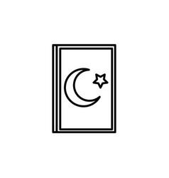 Quran icon vector