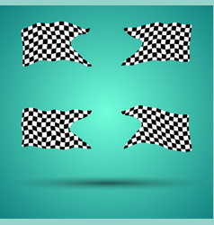 Racing background set collection of 4checkered vector