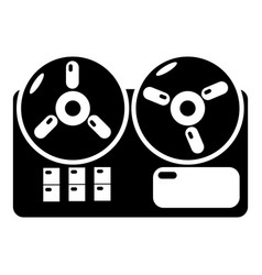 reel tape recorder icon simple style vector image