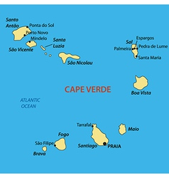 Republic of Cabo Verde - map vector
