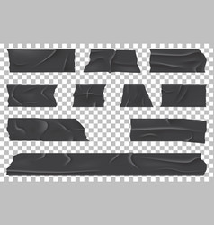 scotch or ripped adhesive bandage sticky tape vector image