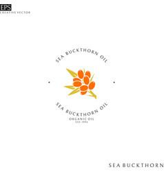 Sea buckthorn oil logo vector