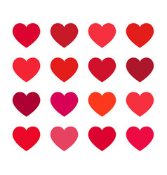 set with hearts vector image
