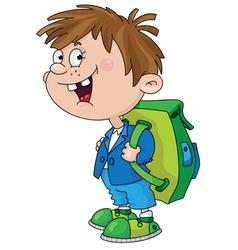 Smiling schoolboy vector