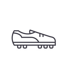 soccer boot flat line concept vector image