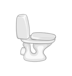 Toilet bowl icon black monochrome style vector