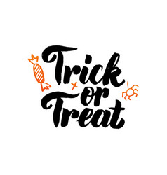 Trick or treat isolated calligraphy vector