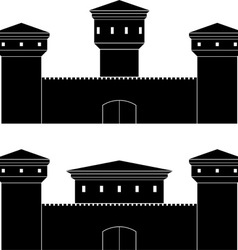 two castles vector image