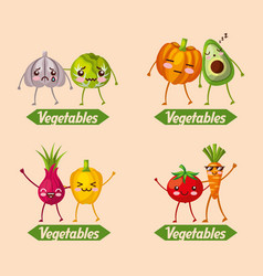 Vegetables fresh food vector