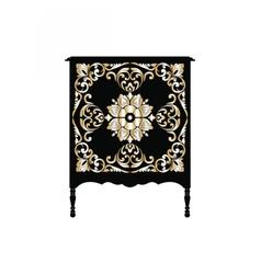 Vintage baroque furniture vector