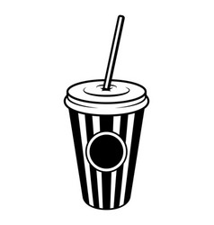 Vintage monochrome cinema soda concept vector