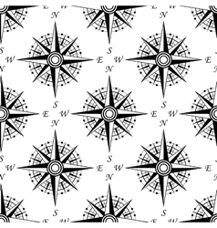 Vintage nautical compass seamless pattern vector