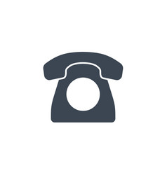Vintage phone related glyph icon vector