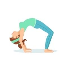 Wheel chakrasana yoga pose demonstrated by the vector
