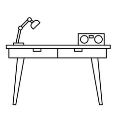 work table icon outline style vector image