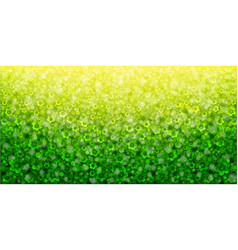 Yellow and green abstract floral background vector
