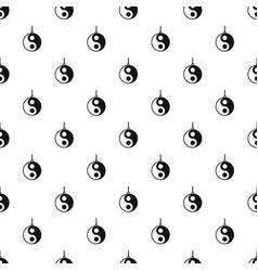 Yin yang symbol pattern vector