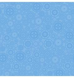 Blue Cogwheels Pattern vector image
