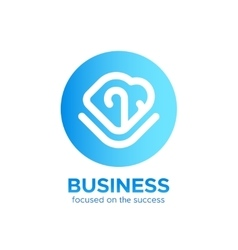Business logo template isolated on white vector image