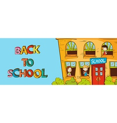 Colorful education back to school cartoon vector image vector image