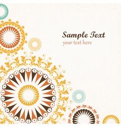 Floral pattern decorative background vector image vector image