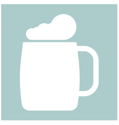 glass of beer the white color icon vector image vector image