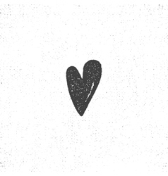 heart retro icon letterpress effect vector image vector image