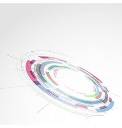 Modern ring round technology bright element vector image vector image