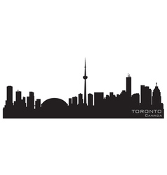 Toronto canada skyline detailed silhouette vector