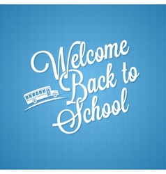 back to school vintage lettering background vector image