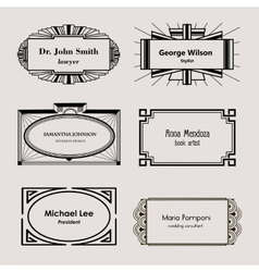 Beautiful blank frames for business cards vector image
