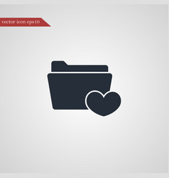 Folder icon simple vector