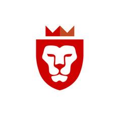 lion king shield vector image
