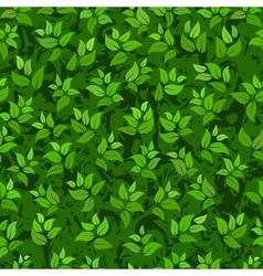 seamless abstract green leaves background vector image vector image