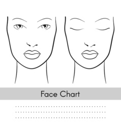 woman face chart portrait Female face with open vector image
