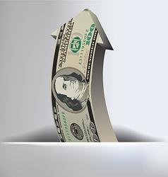 100 Dollar arrow Background vector image vector image