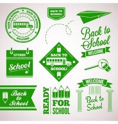 back to school icon set labels design vector image