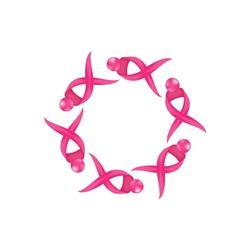 Breast ribbon icon logo vector image vector image