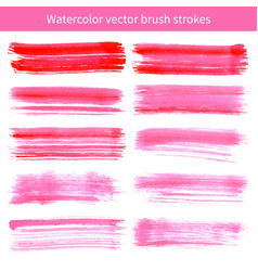 bright pink watercolor brush strokes vector image vector image