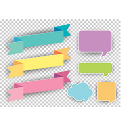 different designs of labels in many colors vector image