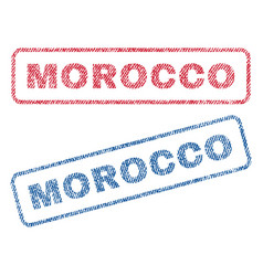 Morocco textile stamps vector