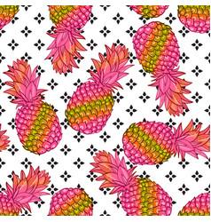 pineapple creative trendy seamless pattern vector image